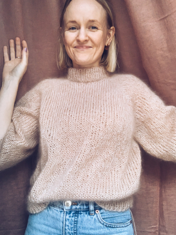 Mille Fryd Madeline Sweater x Mohair genser oppskrift
