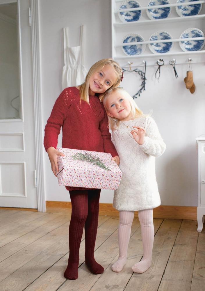 12 Tirilkjole til barn mønster* Sandnes garn SATURNIA GARN