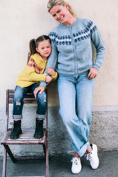 Vendela for Sandnes garn jakke og genser barndame