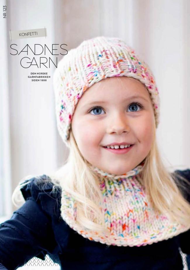 6fd61ee2 123 Konfetti lue og hals til barn oppskrift Sandnes garn* - SATURNIA ...