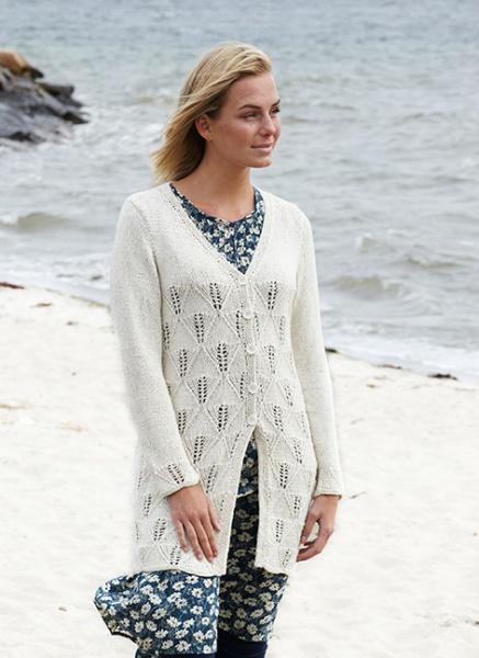e4f538f5 2312 Lang jakke med hullmønster i Cecilia dame Svarta Fåret ...