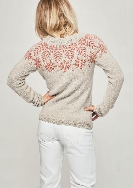 6 Tirilgenser og jakke snøkrystall mønster* Sandnes garn