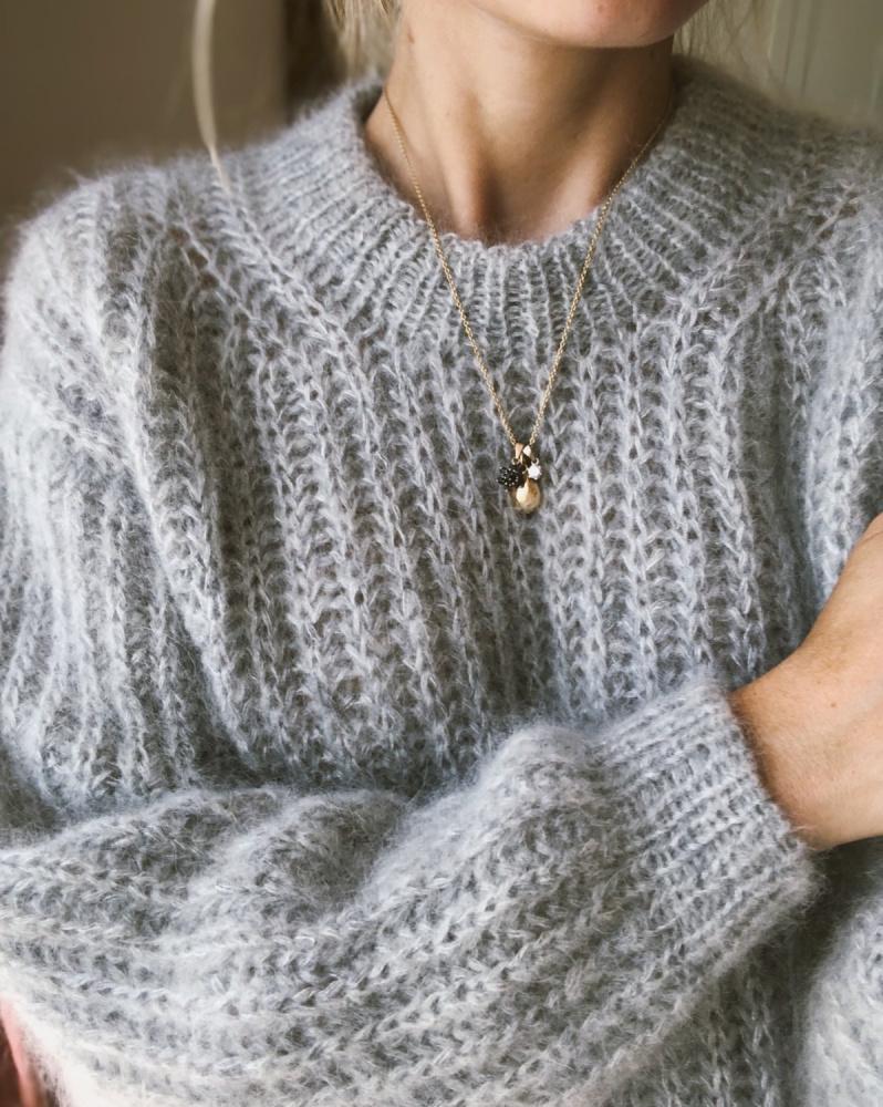 PetiteKnit September sweater (papirutgave) Sandnes Garn